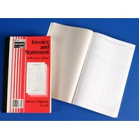 Book Invoice Statement Book 8x5 625 Triplicate 07771 - each
