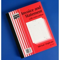 Book Invoice Statement Book 10x8 627 Triplicate 07820 - each