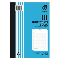 Book Quotation Book A4 Duplicate 650 Olympic 07830 - each