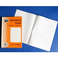Book Quotation Book A4 Duplicate 750 Carbonless Olympic 07835 - each