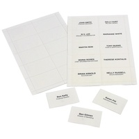 Name Card Inserts card only Marbig 90055 - pack 250