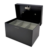 Cash Box   6 inch Standard BLACK Concord 374066 - 158 x 108 x 85mm