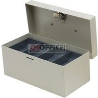 Cash Box  8 inch Standard Grey Concord 374085 - each