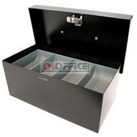Cash Box  8 inch Standard BLACK Concord 374086 - each
