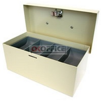 Cash Box  8 inch Standard Beige Concord 374082 Size 209 x 108 x 85mm 4 coin compartments