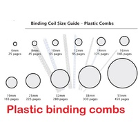 Binding Coils 21 ring Plastic Combs please choose your size and colour