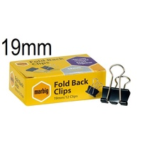 Foldback Clips 19mm Standard Office - box 12 87070