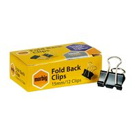 Foldback Clips 15 mm 87075 - box 12