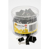 Foldback Clips Assorted Sizes Black Marbig 87184 Tub 60
