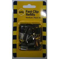 Clips - Fast Clip Marbig refill 40 sheet medium 87097 - box 50