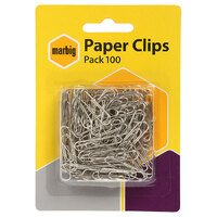Clip - Paper Clips Metal 28mm small  Marbig No 263 Pack 100 975263