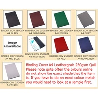 Binding Covers A4 [2] Leathergrain Choose Colours 250gsm Quill - pack 100