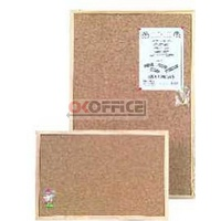 Corkboard wood frame economy . 400x600mm Economy wooden Vista VECK0604 - restricted delivery - each