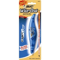 Correction Tape 5mm x 6m - each Bic Wite Out Exact Liner 5mm 6254 - each