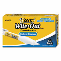 Correction Pens Bic box 12 Wite Out Shake N Squeeze Bic 6236 8ml pens