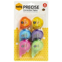 Correction Tape Marbig 4mm x 8M Precise 975198 - pack 6