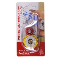 Correction Tape 5mm x 8m Hangsell Belgrave - each 87190 white out correction tapes