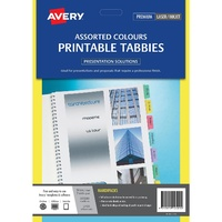 Printable Tabbies A4 Avery 48 Coloured Tabs L7431 Avery 5412501 - pack