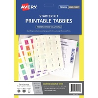 Printable Tabbies 48 Coloured 48 White Plus wizard Software L7431 - pack