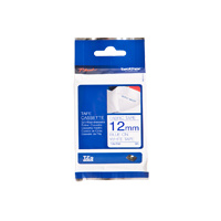 Brother TZeFA3 12mm Fabric Blue on White TZ-FA3 P-Touch - each