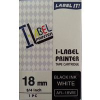 Labeller tape Casio 18mm Black on White Casio XR18WE - each