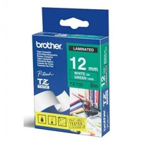 Brother TZ735 12mm X 8m White on Green TZ-735 P-Touch - each