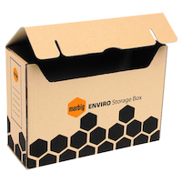 Storage Box Marbig 80030 - box 20 Outside Dimensions: 375(l) x 135(w) x 260(h)m for all documents and magazines
