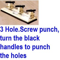 Punch 3 hole -> . 80 sheet P3 Drill Punch Adjustable EADR5266 - each