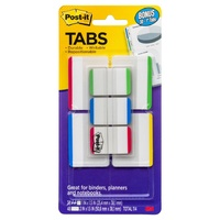 Post It Tab 3M Durable 50mm Value Pack 686-VAD1 50.8 X 38.1mm Assorted Primary Colours