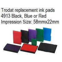 Trodat replacement ink pads 4913 Black, Blue or Red Printy T649139