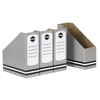 Magazine Holder Marbig Cardboard Grey 80050S - pack 4