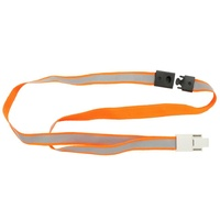 Lanyards Breakaway Orange pack 5 High Visibility Reflective Rexel 9843006 * not normally stocked