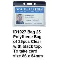 Card Holder CLEAR Kevron ID1027 - pack 25