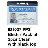 Card Holder CLEAR Kevron ID1027 - pack 2