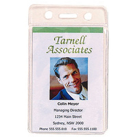 Card Holder Pouch Soft Portrait Rexel 9801012 - pack 10