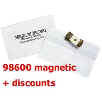 Magnetic Name Badges Rexel 98600 - pack 10