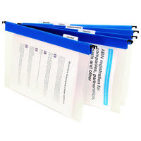 1. Suspension Files FC Polyprop Blue pack 10 With Tabs and Inserts 8201301 Marbig