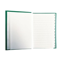 NoteBook Collins A7 A To  Z Green 96 Page 05304