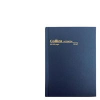 NoteBook A5 Feint Ruled 240 pages Blue Collins 05600 - each