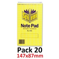 NoteBook Small 147x87 96 page Top Open Spirax 541 - pack 20
