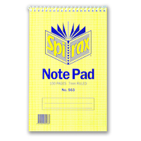 Notebook 125x200mm Flip Top Spiral Spirax 563 pack 20 56048 notebooks 8mm ruling