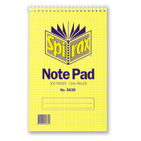 Reporters NoteBook 200x127mm Top Opening 300 page Spirax 563B 56050 - pack 10