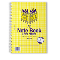 NoteBook A5 Spiral 200 page side open Spirax 570 - pack 5