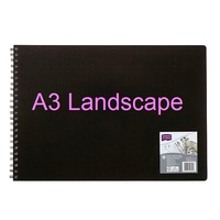 Visual Art Diary A3 white page 60L bulk discounts Landscape 110gsm 60 Leaf 120 pages