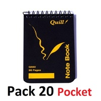 NoteBook Pocket Size QUILL 112x77 Spiral Quill Q560 - pack 20