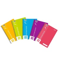 NoteBook Lecture A4 Quill Shades Spiral C906 Side Opening Coloured Cover - pack 5