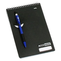 NoteBook Accohide Reporter 200 x 122mm 200 Page Top Spiral 17183 Black - pack 5