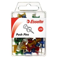 Pins Push Pins assorted 45110 - pack 50