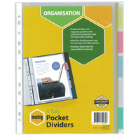 Pocket Dividers A4 PP 5 Tab Pocket Marbig 35080 - set 5