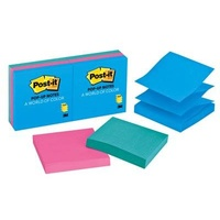 Post It Pop Up Notes 3M 73mm x 73mm Ultra Assorted R330-AU 3m 412411 - pack 6
